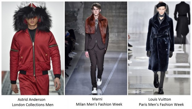Men and fur on fashion weeks